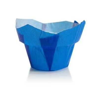 Muffin kapszli - kék, alacsony koronás