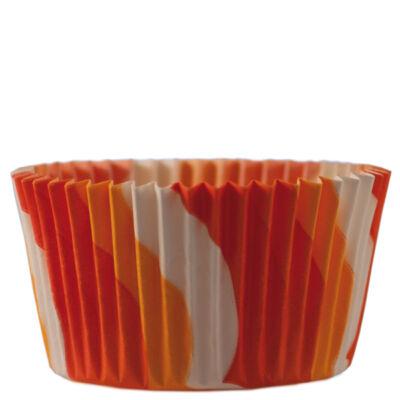 Muffin és cupcake kapszli - narancs-piros (1000 db)