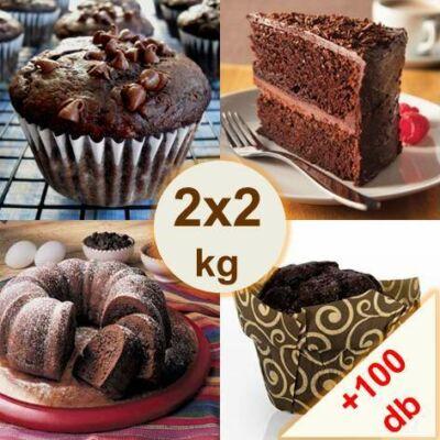 Csokis sütemény próbacsomag (2x2 kg)  100 db kapszlival