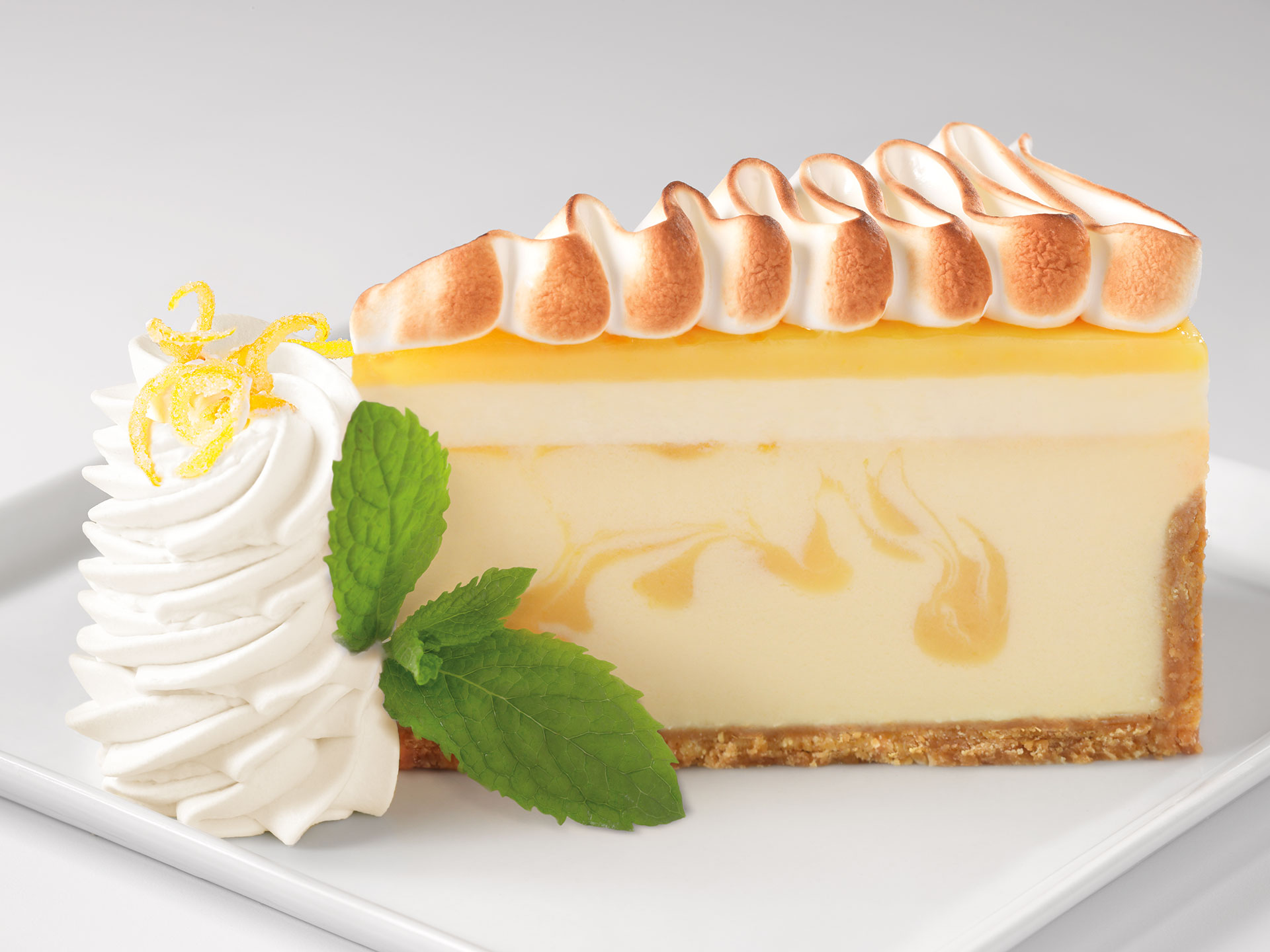 Citromos-habos cheesecake (merengue)