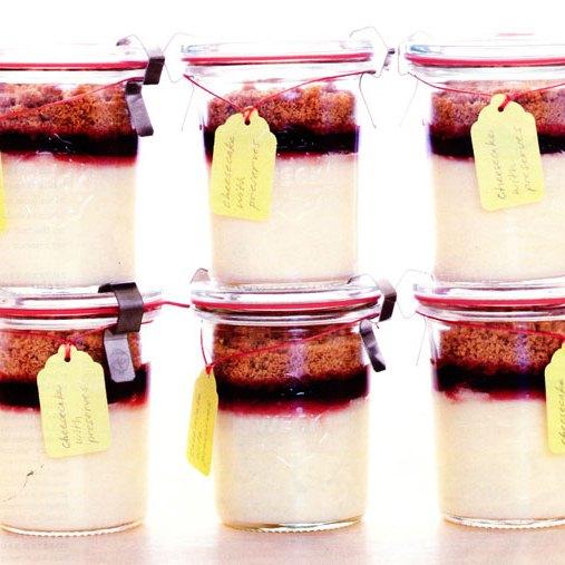 Cheesecake kis üvegben